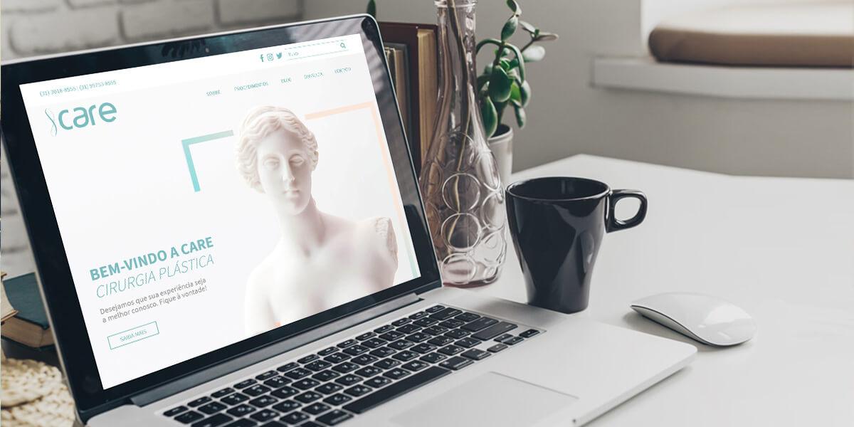 Nova identidade visual e presença digital da CARE Cirurgia Plástica