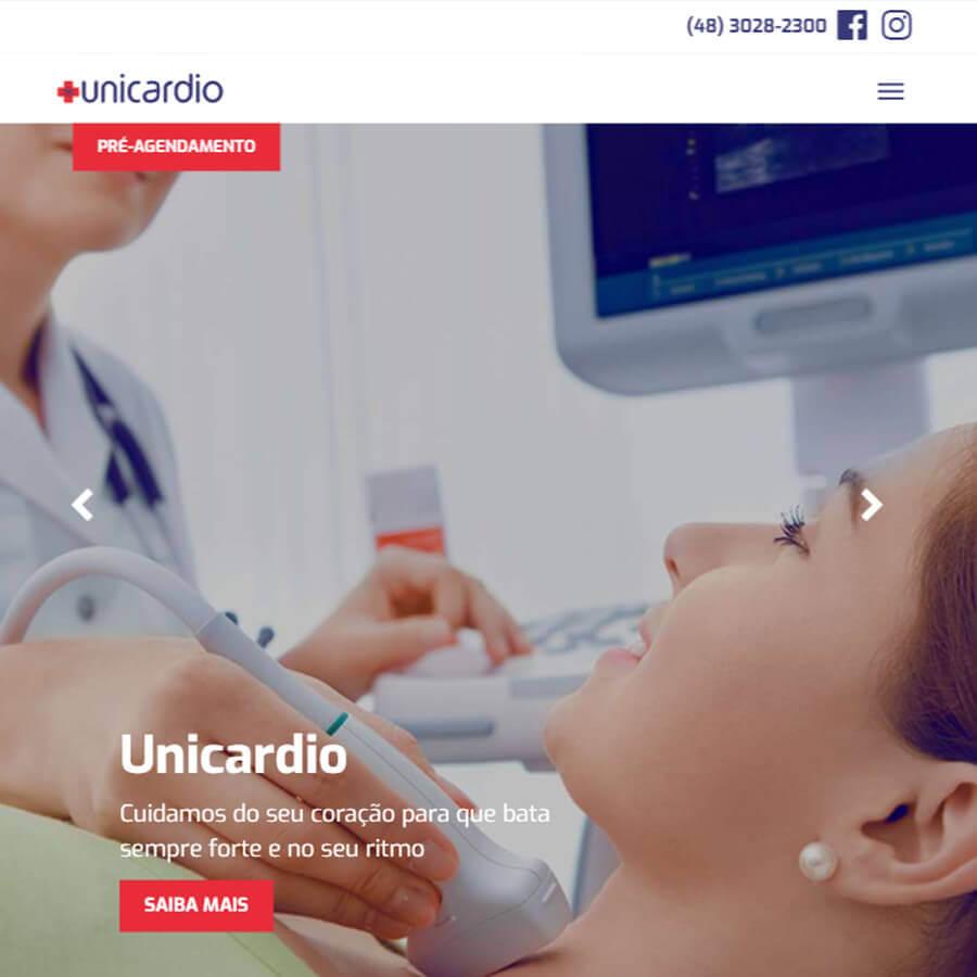 Modernização da identidade visual e presença digital da Clínica Unicardio