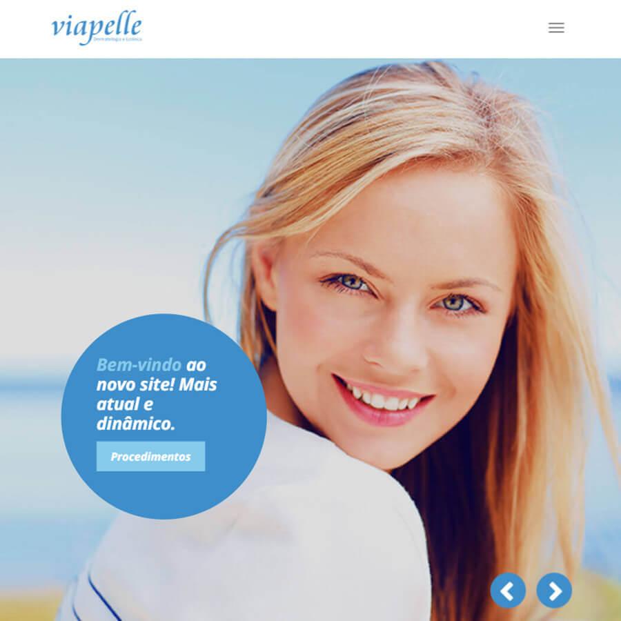 Website e presença digital otimizada para a Clínica Via Pelle