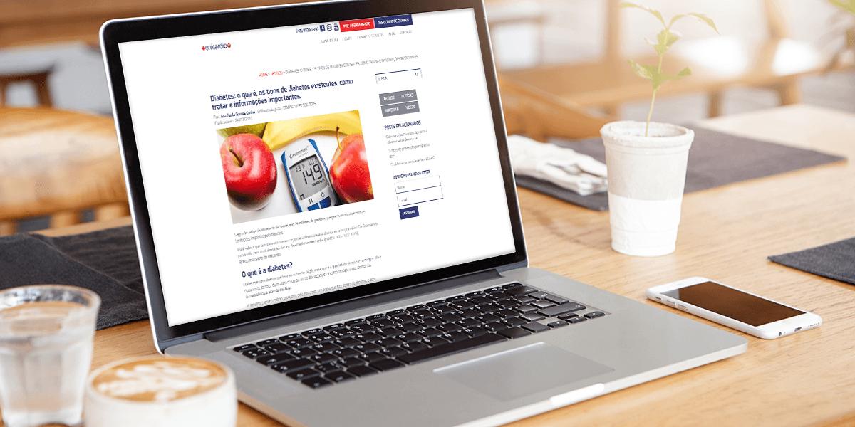 Como a Unicardio aumentou os acessos ao site em 378% em um ano
